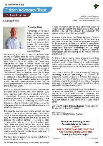 Download November 2020 Newsletter.